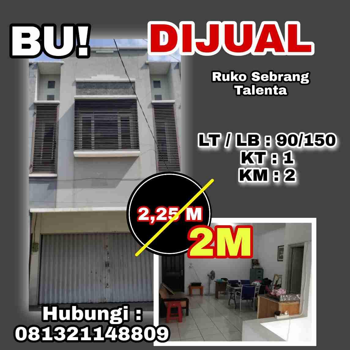 Dijual Ruko Sebrang Talenta Bandung