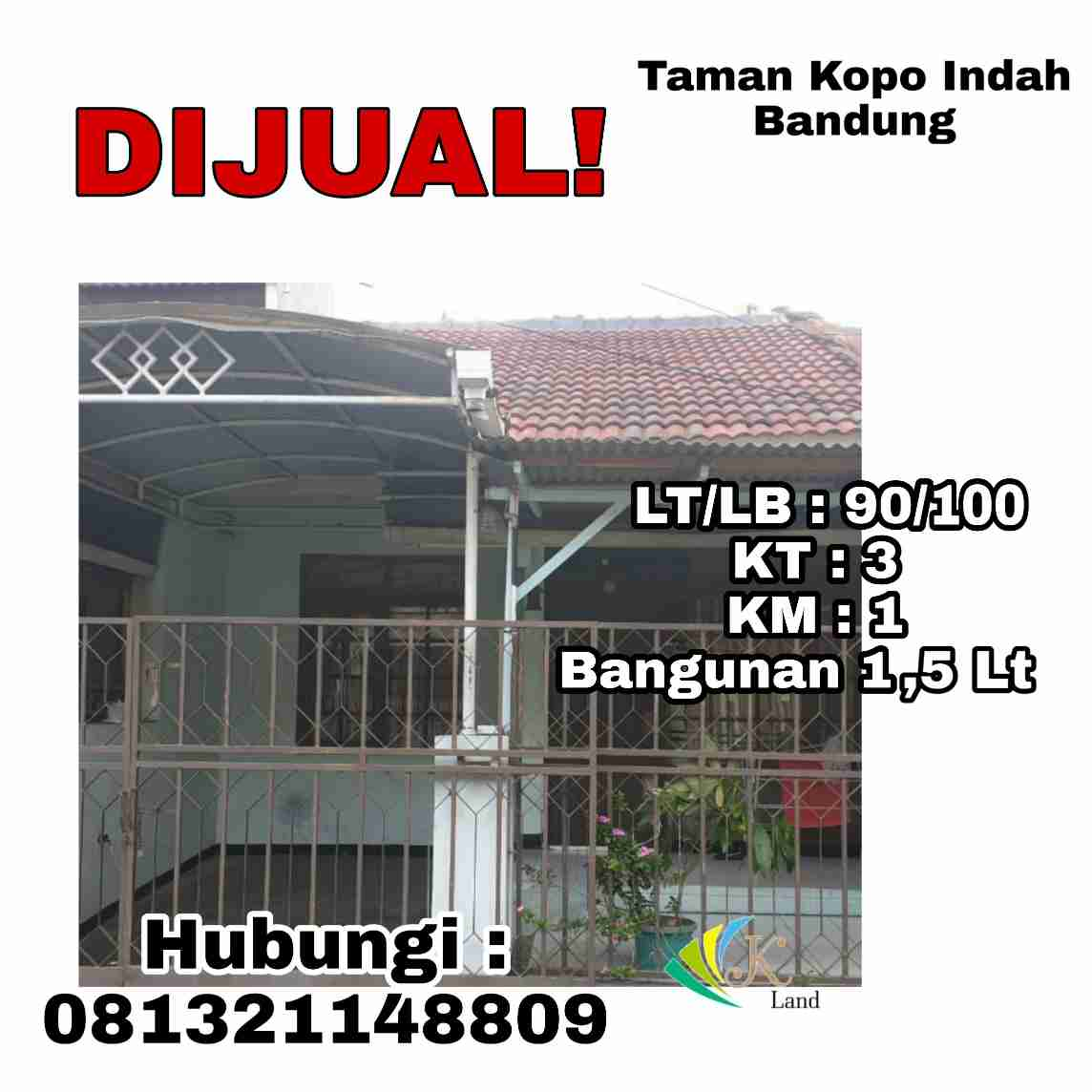 Dijual Rumah Taman Kopo Indah 2, Bandung ( Blok Patung Kuda )