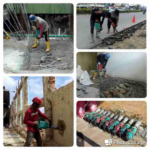 Sewa Jack Hammer / Jack Drill / Demolition Hammer (Breaker) Pekanbaru Riau
