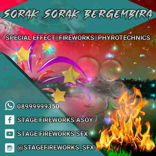 vendor di bidang jasa kembangapi panggung,special effect dan fireworks