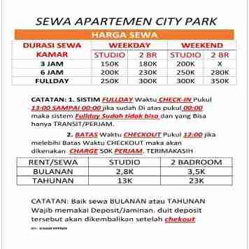 apartemen city park