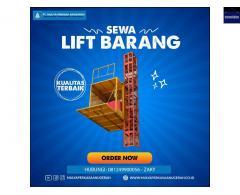 SEWA LIFT PROYEK / LIFT BARANG KAPASITAS 1-2 TON CENGKARENG