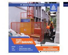 SEWA LIFT PROYEK / LIFT BARANG KAPASITAS 1-2 TON CIKARANG PUSAT