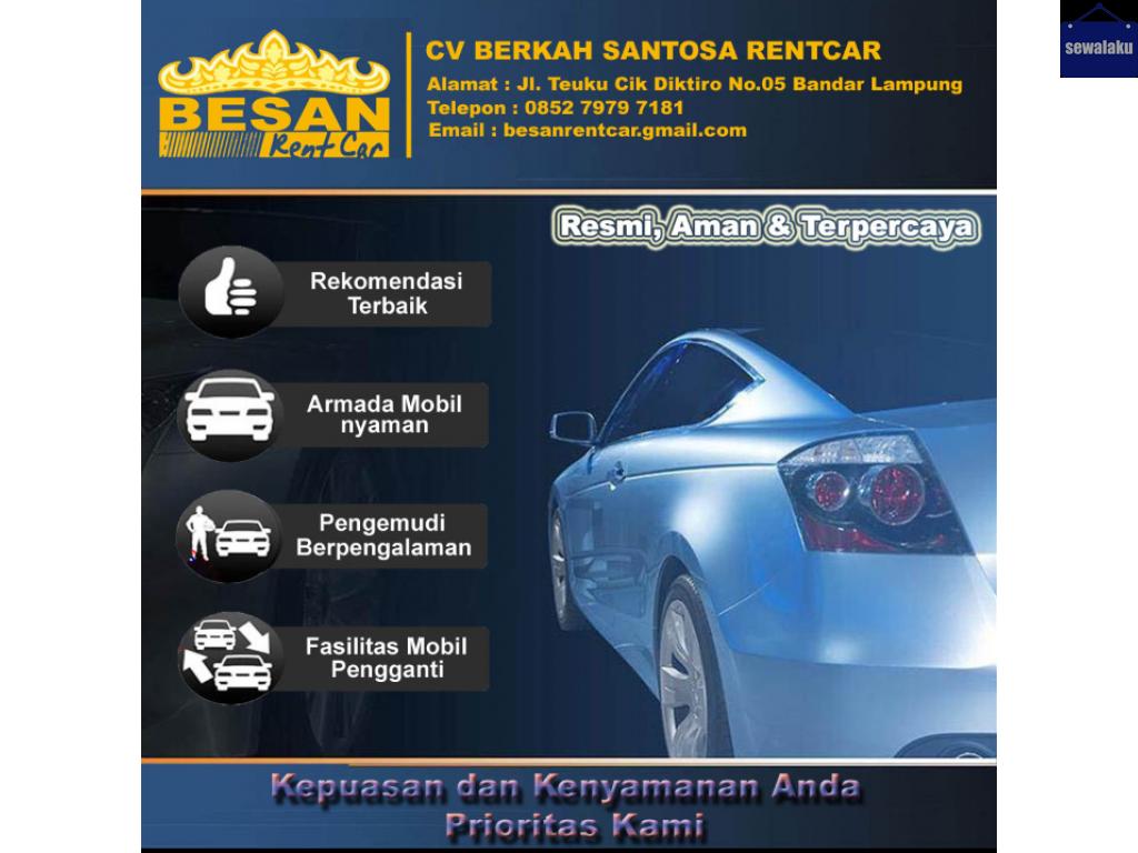 BESAN Rental mobil Lampung