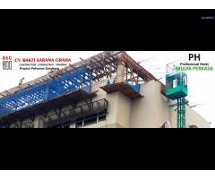 Sewa lift barang / sewa alimak / sewa lift material / hoist Mulyalift murah di Jakarta
