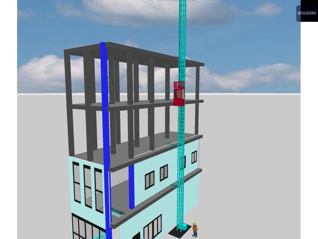 sewa lift material lift semarang sewa lift proyek harga lift murah