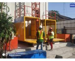 alat angkut beban proyek//lift material//lift barang
