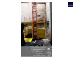 Penyewaan alat bantu proyek Lift Barang MULYALIFT single atau double Cabin kapasitas 1-2ton