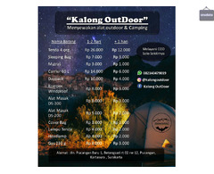 Rental/Sewa Alat Outdoor dan Camping di Solo