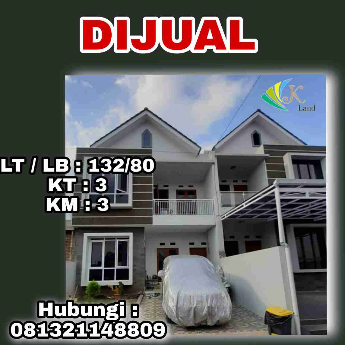Dijual Rumah Nyaman Modern Bandung