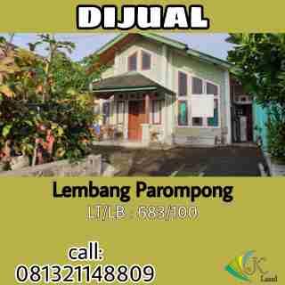 Dijual Rumah Asri Nyaman di Lembang Parompong
