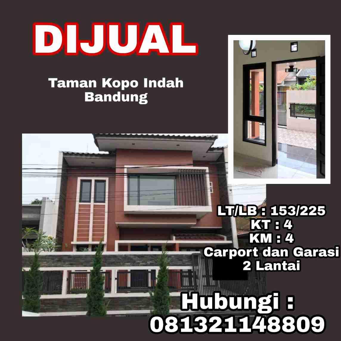 Dijual Rumah Modern Nyaman Bandung