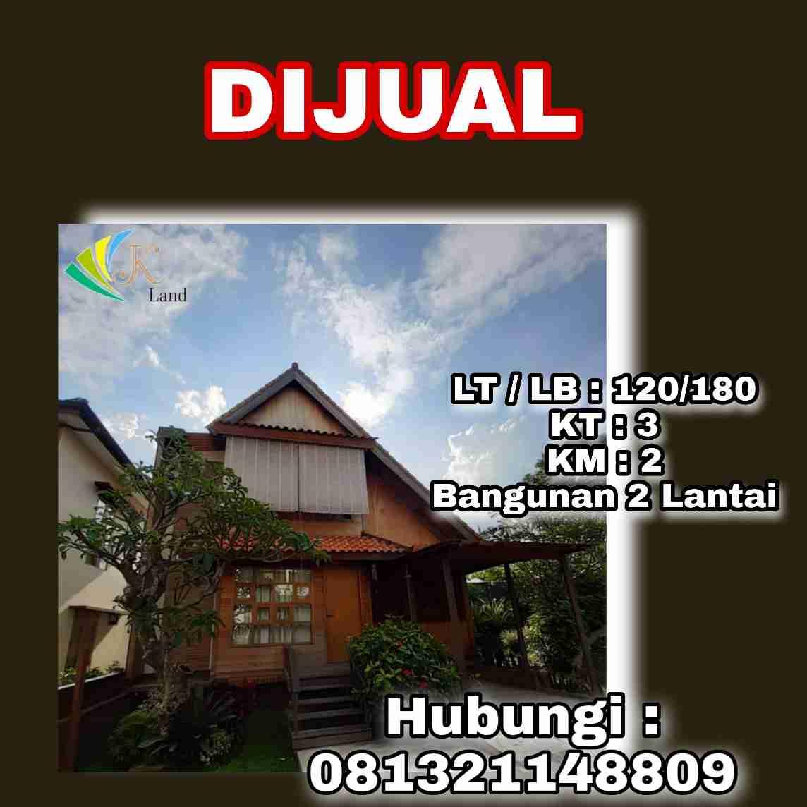 Dijual Rumah Kayu (Villa) Lokasi Cimahi