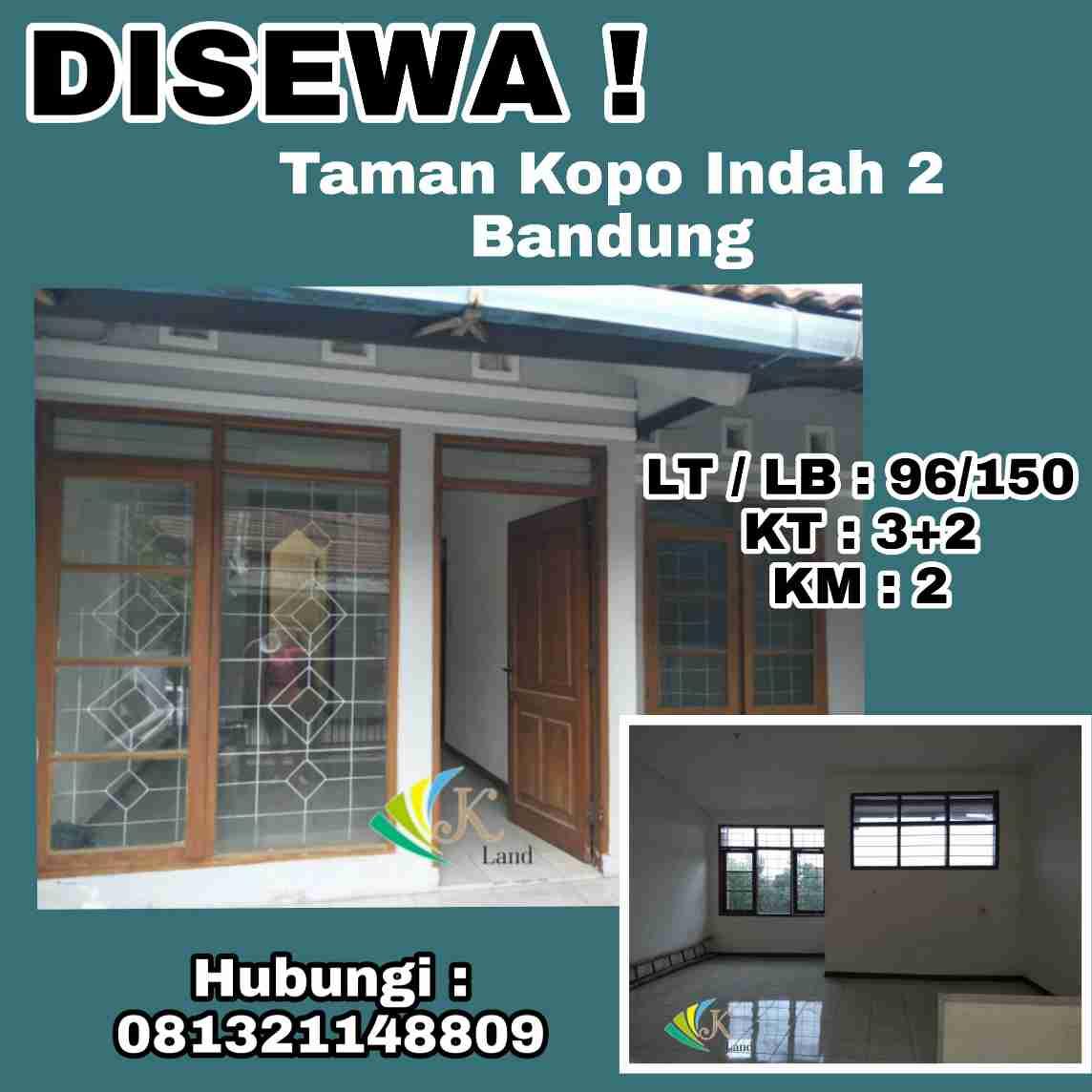 Disewakan Hunian Bagus Lokasi TKI 2 Bandung