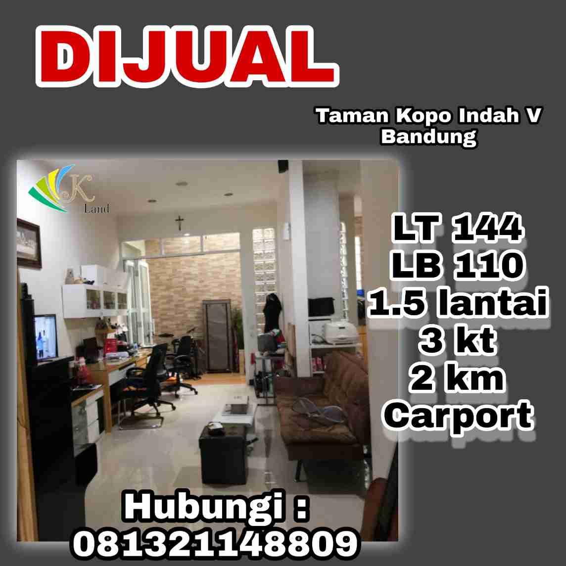 Jual Rumah Summerville Taman Kopo Indah V Bandung