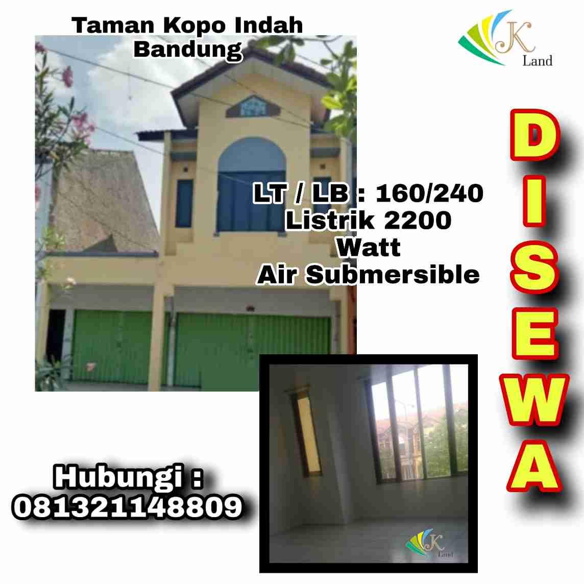 """Ruko Di Taman Kopo Indah 3 Bandung """"Disewakan"""""""